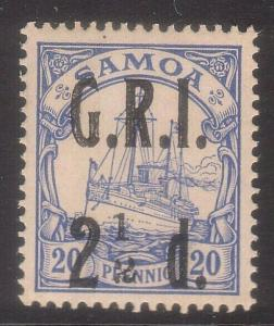 SAMOA 1914 GRI opt on German Samoa : 2½d on 20pf fresh MNH.................66369