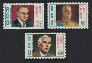 Turkey Regional Co-operation for Development Heads of State 3v 1976 MNH