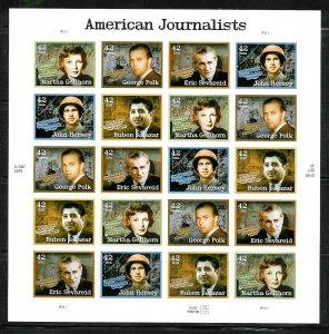 PCBstamps   US #4248/4252 Sheet $8.40(20x42c)American Journalist, MNH, (3)