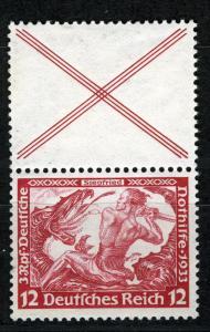 Zusammendrucke DR, Se-Tenant, 1933 Wagner, Michel S 114, MLH