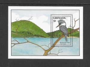 BIRDS - GRENADA #1611  BELTED KINGFISHER   MNH