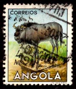 Angola 1953 African Brindled gnu Wild Animals 4a Scott.375 Used (#3)
