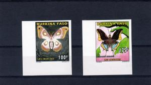 Burkina Faso 1996 Butterflies (2) Set Imperf.Mi.1419 & 1421