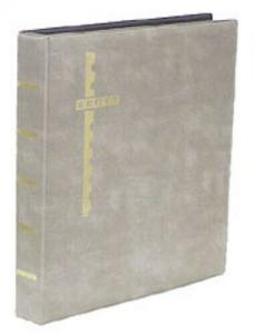 Gray Scott Mint Stamp Sheet Album 3-Ring Binder & Pack of 25 Black Sheet Pages