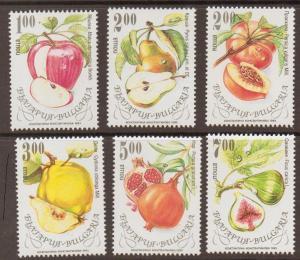 BULGARIA SG3915/20 1993 FRUITS MNH