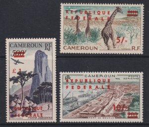 Sc# C38 / C40 British Cameroon 1961 Repubilque Federale o/p MNH set CV $67.00