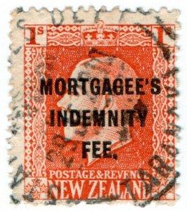 (I.B) New Zealand Revenue : Mortgagee's Indemnity Fee 1/-
