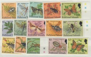 Falkland Islands 1984 Insects Spiders Set To £3 SG469a/483a MNH J7155