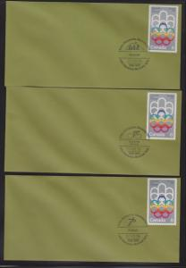 CANADA FDC 1976 OLYMPICS STAMPS(7) #623  LOT#PPJ56