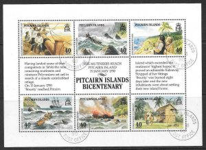 PITCAIRN ISLANDS SG356a 1990 SETTLEMENTS FINE USED