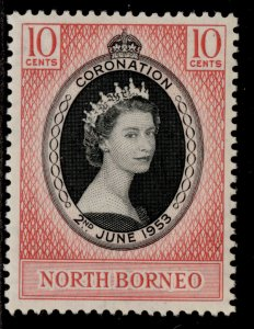 NORTH BORNEO QEII SG371, 10c 1953 CORONATION, M MINT.