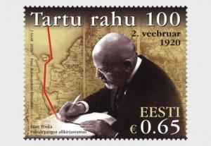 Estonia 2020 Tartu Peace Treaty MNH**