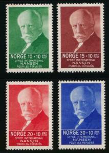 NORWAY B5-B8 MINT HINGED NANSEN