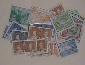 BRITISH  GUIANA 31 STAMPS MOSTLY MINT LIGHT HINGED