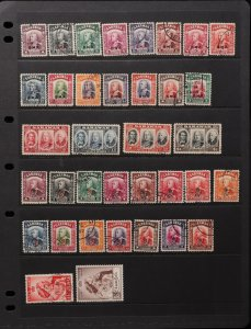 SARAWAK : 1945-52 KGVI Used Collection. SG cat £348.