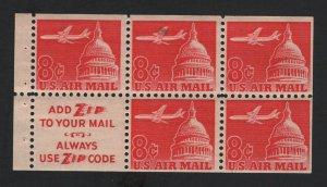 United States MINT Scott Number C64b BOOKLET PANE  MNH  F-VF  #3  -  BARNEYS