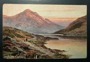 1906 Lough Doo Co Galway to Newcastle Ireland Real Picture Postcard Cover