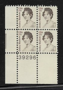 UNITED STATES, 1822,  MNH,BLK OF 4, DOLLEY MADISON