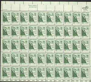 US #1380 Mint Sheet Daniel Webster