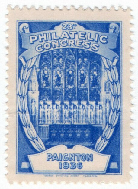 (I.B) Cinderella : 23rd Philatelic Congress (Paignton 1936) Stained Glass