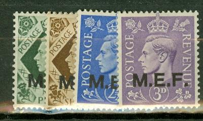 Great Britain Middle East Forces 1-13 mint CV $31