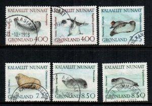Greenland  233 - 238  used cat $  16.00
