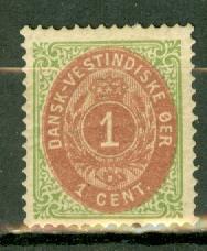 Danish West Indies 5f mint spacefiller CV $475