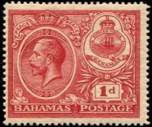 Bahamas SC# 66 SG# 107 George V 1d MLH