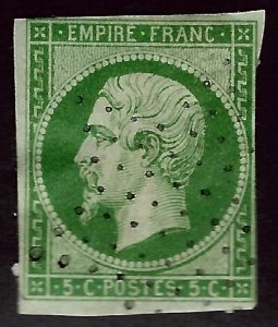France SC#13 Used Fine hr SCV$85.00...Always Collectible!