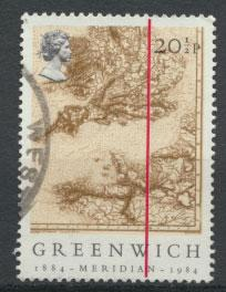 Great Britain SG 1255 - Used - Greenwich Meridian