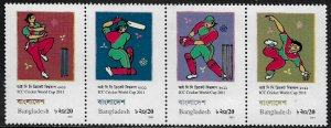 Bangladesh #779 MNH Strip - Cricket Championships