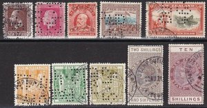 NEW ZEALAND Revenues : Arms & Stamp duty + postage issues fiscally used.....L341