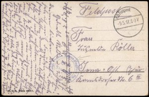 Germany WWI 1917 Prussian Armee Flugpark 5 Air Force Feldpost Used Cover G74253
