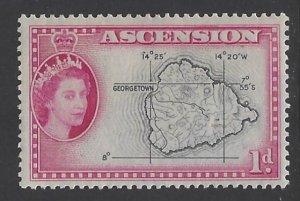 Ascension, Scott #63; 1p Queen Elizabeth II, MLH