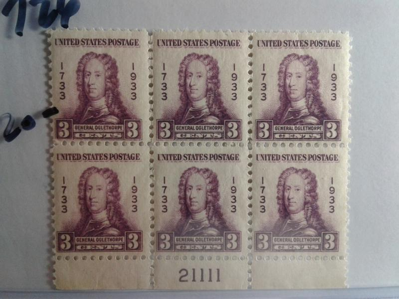 SCOTT # 726 PLATE BLOCK OF 6 GEM QUALITY INCREDIBLE MINT NEVER HINGED