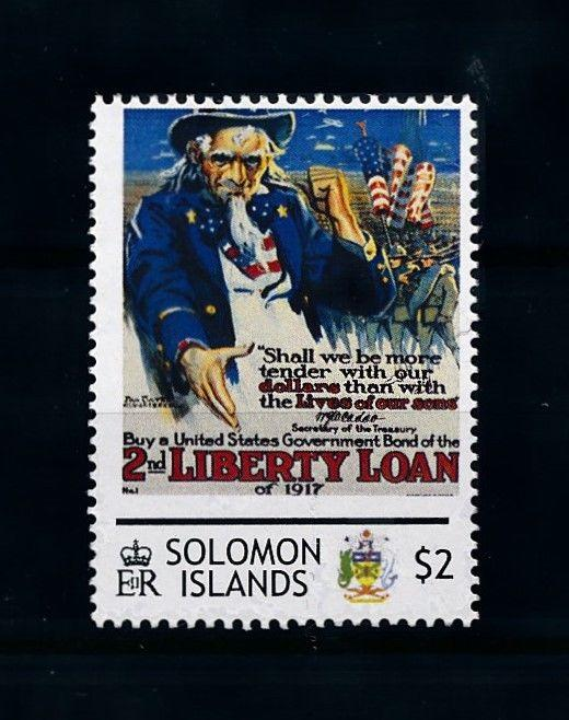 [78427] Solomon Islands  World War I Propaganda Poster  MNH
