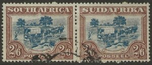 South Africa 1930-45 Unhyphenated 2/6d #44 PAIR Fine Used CV $19.00