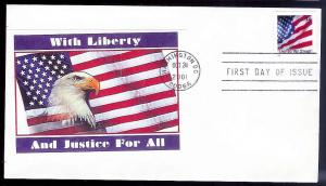 UNITED STATES FDC 34¢ United We Stand Flag 2001 cacheted