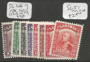 Sarawak SG 106-7, 108, 110-1, 112-3 MOG (3cly)