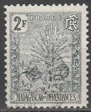Madagascar #76  F-VF  Used CV $32.50  (A11114)
