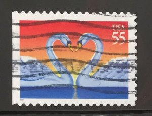US #3124 Used VF - Love Birds 55c