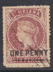 ST HELENA  An old forgery of a classic stamp................................D264