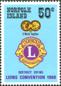 Norfolk Island 1980 SG234 50c LIONS Convention MNH