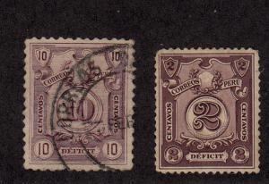 Peru - 1921-32 - SC J47 - Used - J51 - H