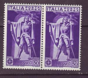 J17228 JLstamps 1930 italy mnh pair #c20 airmail