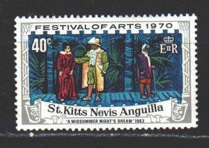 Saint Kitts and Nevis. 1970. 221 from the series. Festival of art. MNH.