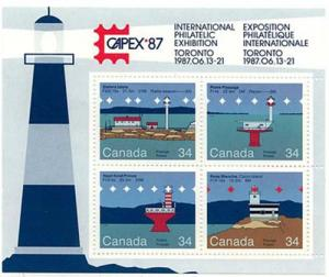 Canada - 1985 Lighthouses Souvenir Sheet VF-NH #1066b