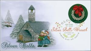 SC 4936, 2014, Silver Bells, Global Postage, Christmas, DCP, FDC, 14-228