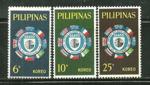 Philippines MNH 909-11 10th Anniversary Of SEATO