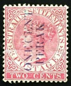 Malaya Perak 1887 Straits Settlements QV 1c surch 2c MH SG#30 Blue print M2155